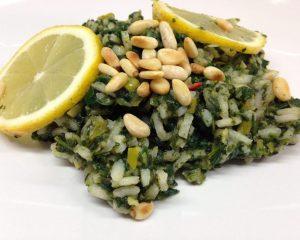 Zitronen Risotto mit Lauch und Spinat