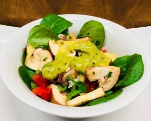 Champignon Mango Salat und Kiwi Avocado Salat Dressing