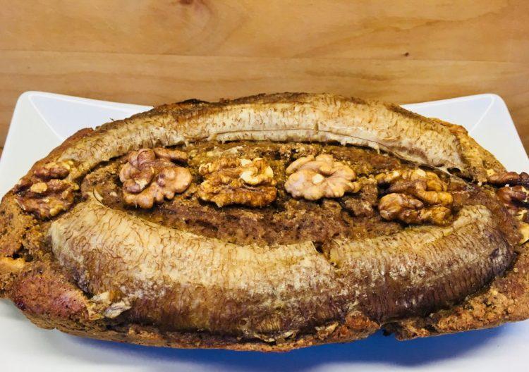 Bananen Brot mit Mandelmus und Walnüssen