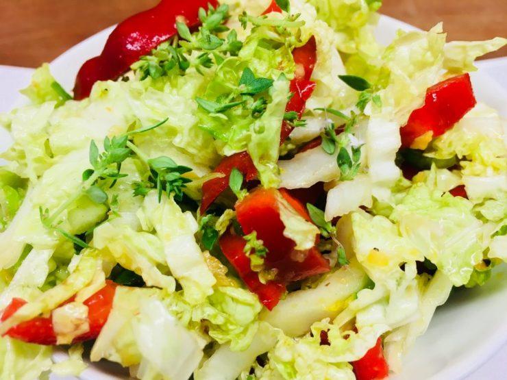 Chinakohl Salat mit Orangen Chutney