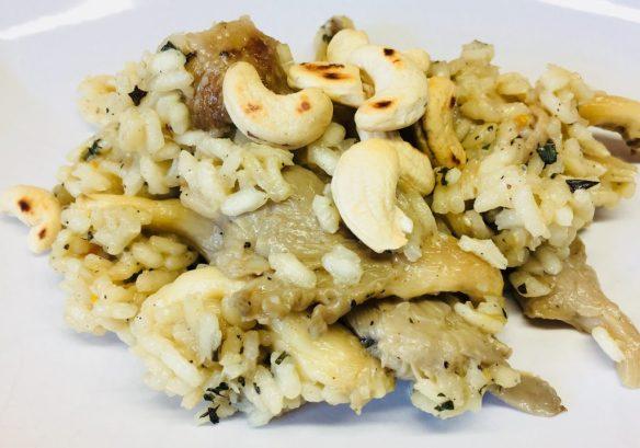 Risotto mit Austernpilzen und Cashews