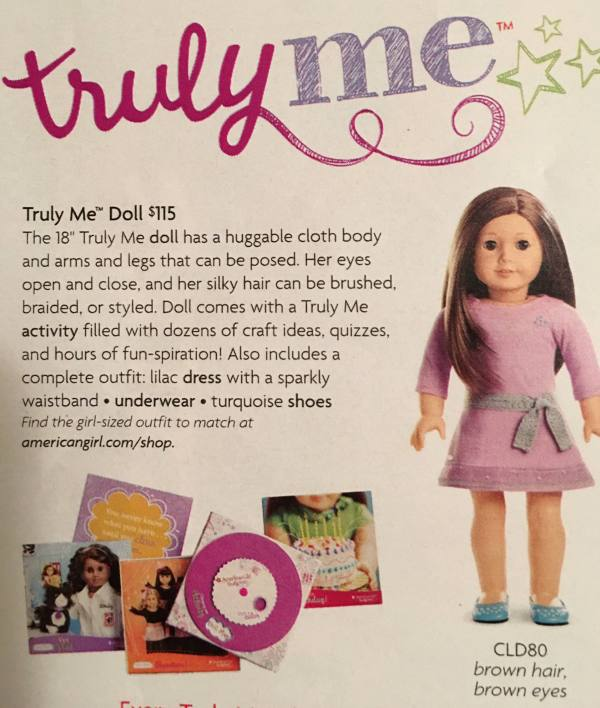 american girl doll truly me