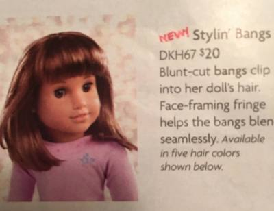 american girl doll bangs