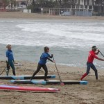 Iniciacion al stand up paddle escuela de sup