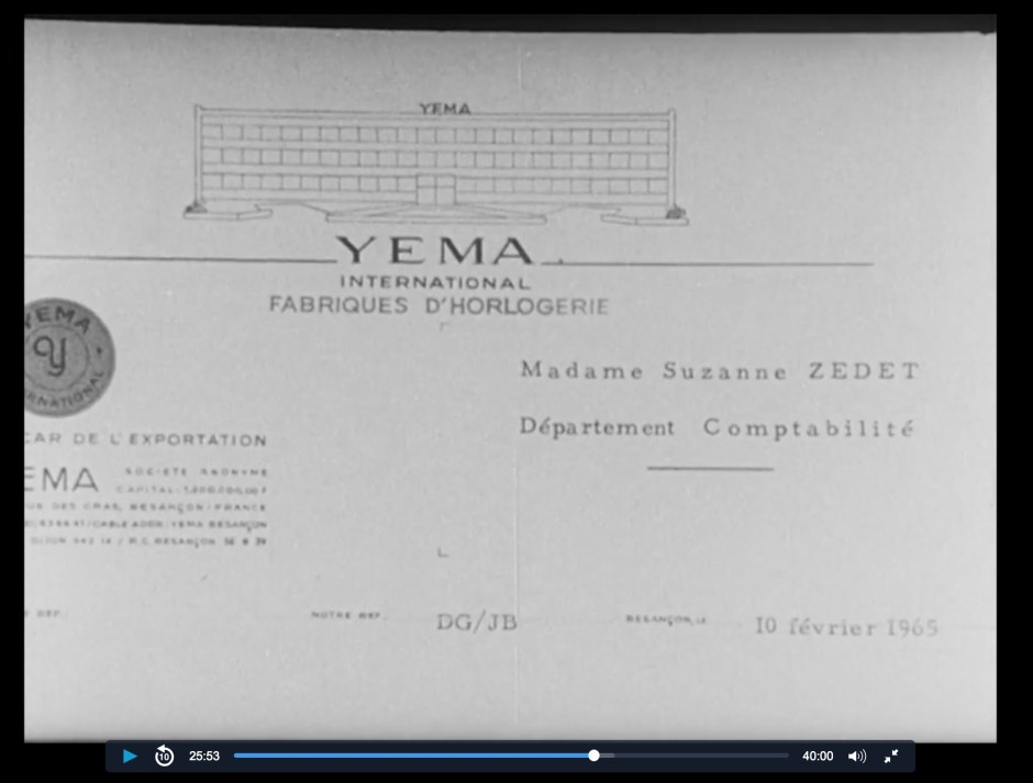 Papier en-tête YEMA en 1965.
