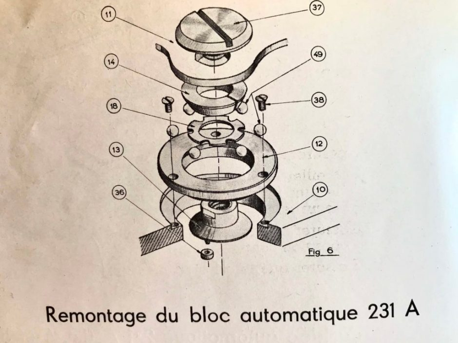 YEMA_231 A_Schéma remontage boc automatique