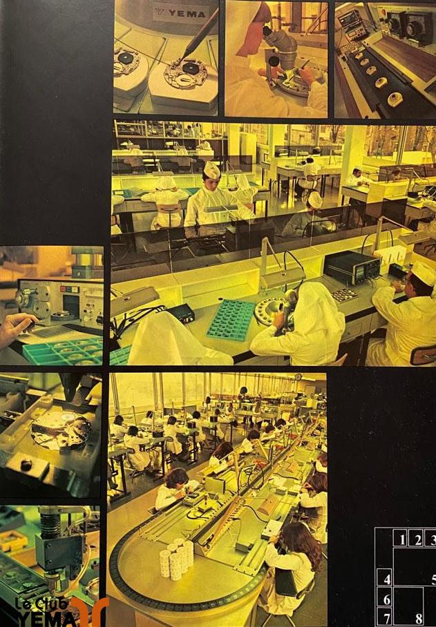 chaine de montage usine Yema 1978