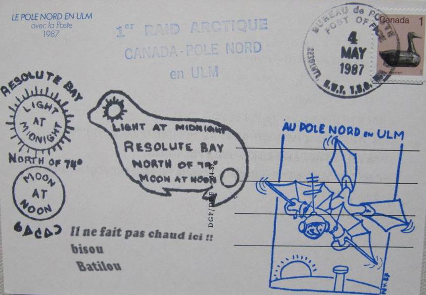 carte postale le pole en ulm, la poste 1987