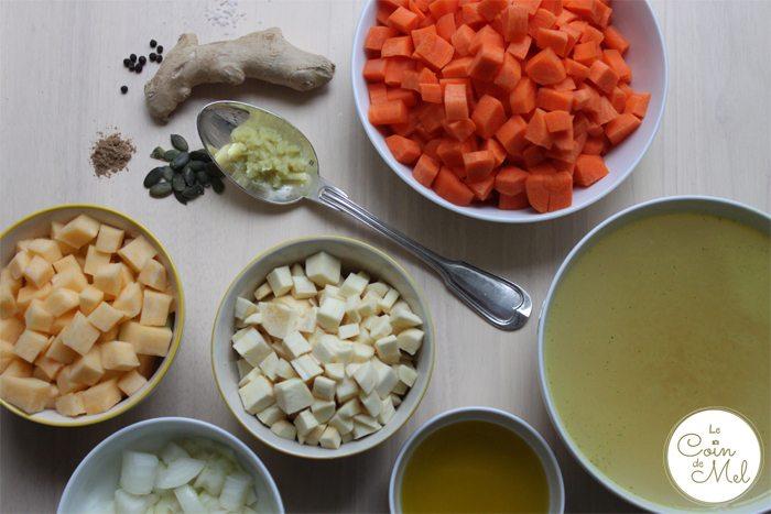 Root Vegetable Soup Prep