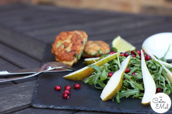 Crunchy Pear and Pomegranate Salad with Honey Vinaigrette