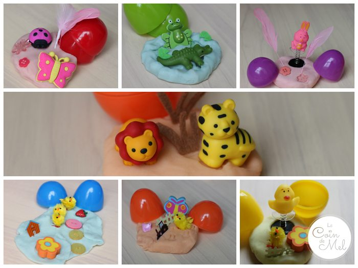 Scented Play Dough Easter Eggs - the surprises