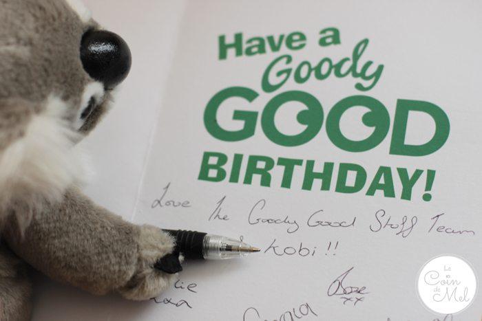 Goody Good Stuff Kobi the Koala Writing the Card