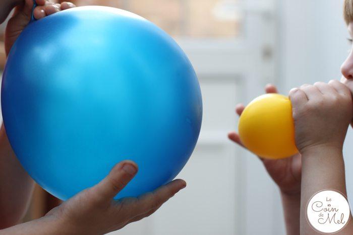 How to Make a Minion Piñata (Despicable Me) - Inflating Balloons