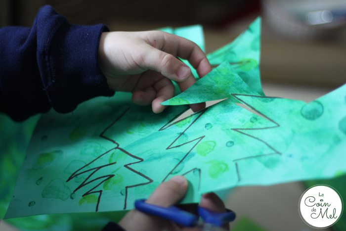 Christmas Tree Bags for Homemade presents - Cutting the Trees