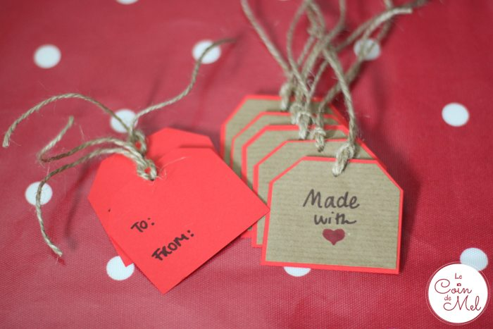 Christmas Tree Bags for Homemade presents - Tags