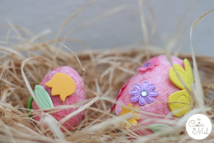 Quick & Easy Toddler Crafts for Spring - Decorated Polystyrene Easter Eggs