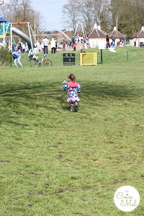 Happy and Running Towards the Play Park... The Joys of Being a Toddler