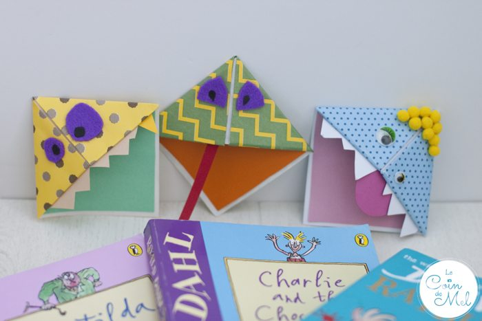 How to Make a Corner Bookmark - Silly Monsters