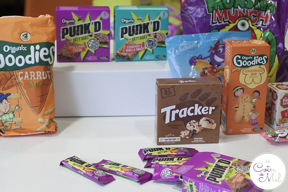 Punk'd- New Snacks With Attitude by Organix with other snacks