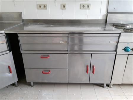 double meuble de cuisine en inox a 30