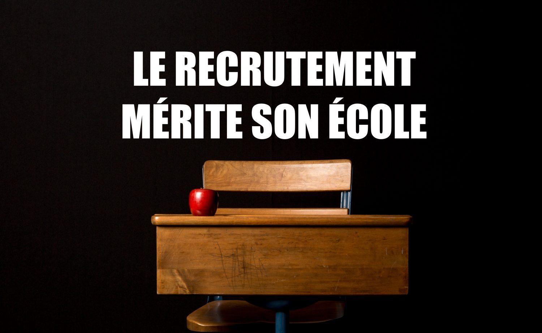 """Résultat de recherche d'images pour """"le recrutement mérite son école"""""""