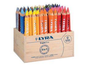 crayon de couleurs triangulaires