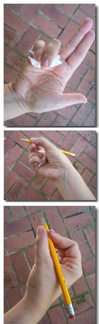 idée pour apprendre à bien tenir son crayon