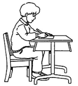 bonne posture pour écrire