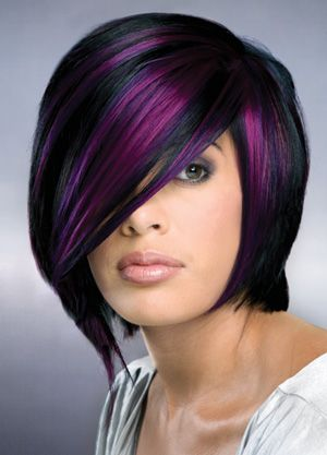 Terrific The Purple Hair Colors Are Preferred By Teenagers All About New Short Hairstyles For Black Women Fulllsitofus