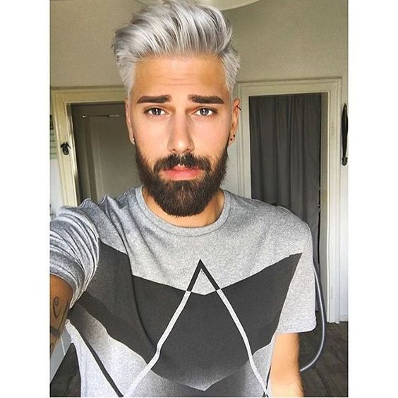 Coupe homme cheveux blanc