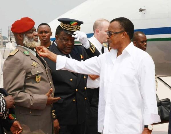 Rencontre Nianga Mbouala- Sassou au deuil de Bouya