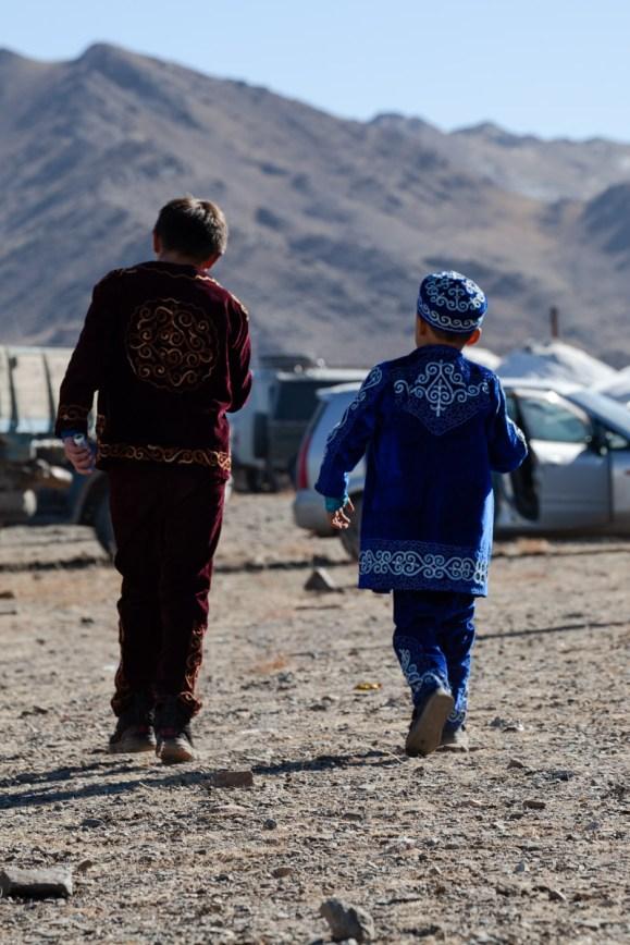 Two Kazakhs kids