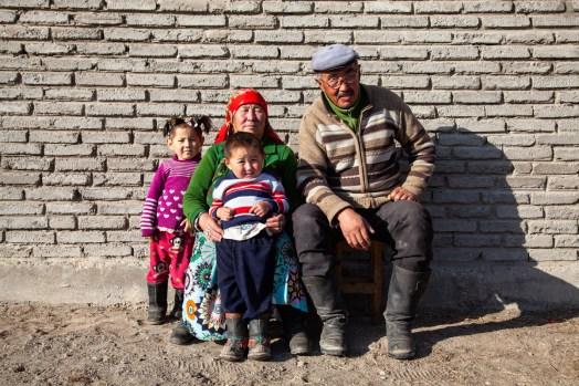 A Kazakh family
