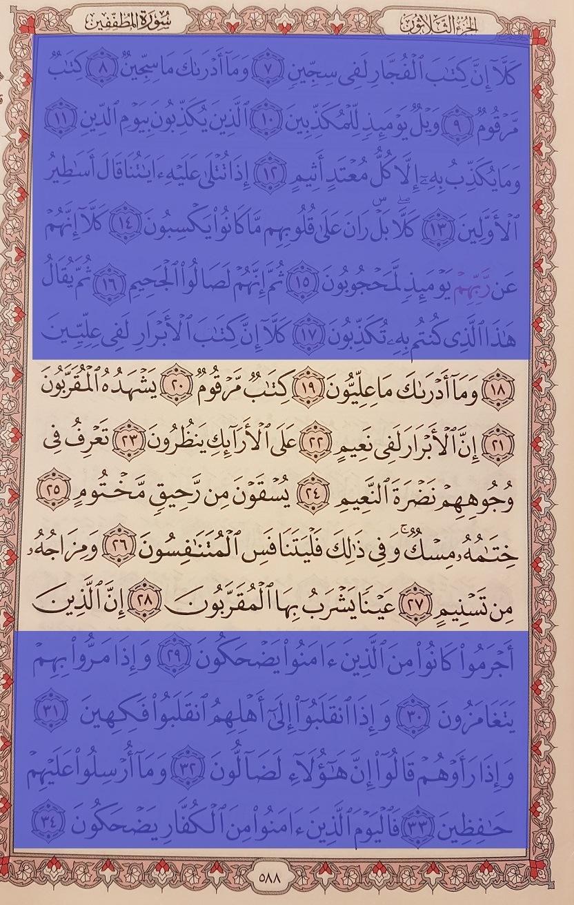 sourate Al-moutaffifine 3 - Le Coran pour tous
