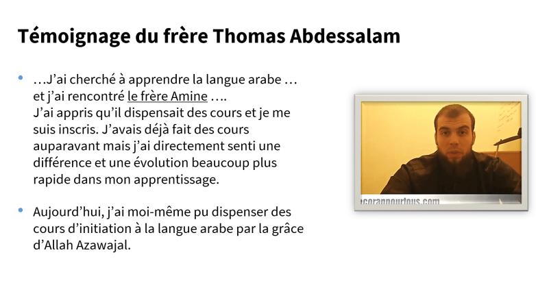 témoignage Thomas Le Coran Pour Tous