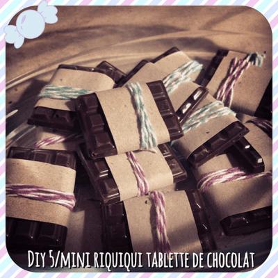 DIY spécial tablette de chocolat faites maison