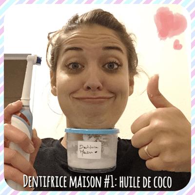 j'ai fabriqué mon premier dentifrice maison à l'huile de coco,  test et avis sur le blog