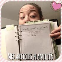 Truc de Blogueuse pour planifier à l'avance ses articles dans un calendrier gratuit