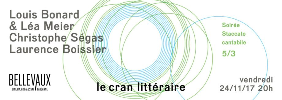 Soirée Staccato cantabile — Vendredi 24/11/17, 20h