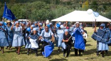 Celebration by members of Thaba-Bosiu Presbytery at Leeto la Thapelo in 2012