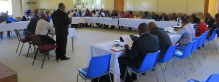 Church leaders attending the workshop