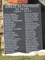Stone marker with 50 names of those born in the year of Thuthuho