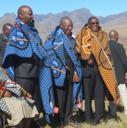 Rev. Masemene, The Prime Minister & Rev. Posholi