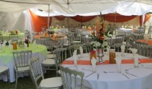Catering setup for VIP tent