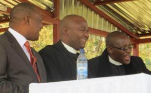 Deputy Prime Minister Mothetjoa Metsing, Rev. Masemene & Rev. Posholi