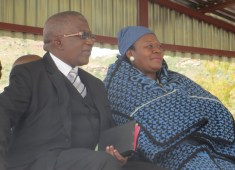 The Chief of Morija Mr. Ranthomeng Matete and his wife 'M'e Manthomeng