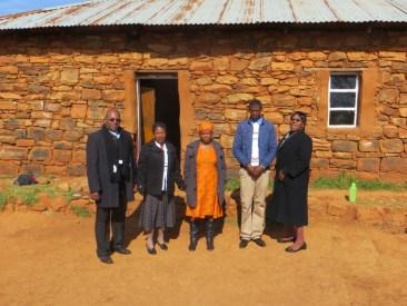 Mr. Senekal, Qiloane Primary School staff and Mrs. Kotele