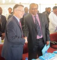 US Ambassador Harrington and Minister of Health Dr. Monyamane