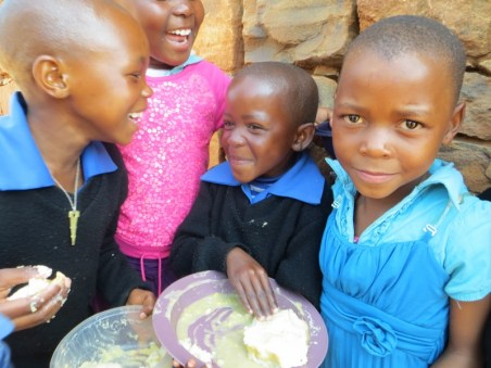 Lunch time at Qiloane Primary School