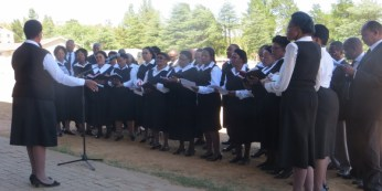 LECSA Choir performing at the opening of the John Calvin Chapel